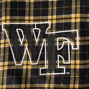 Wake Forest University Stadium Plaid Blanket 48x58